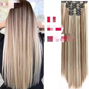 "26"" 16 Clips hair extension clip in"